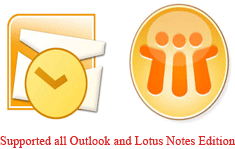 support all Outlook and Notes version